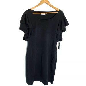 Calvin Klein Dress Black XL Flutter Sleeve
